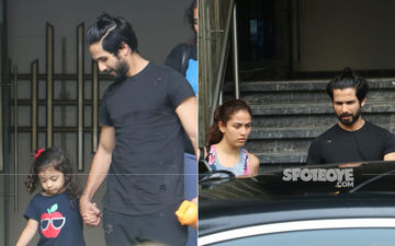 Shahid Kapoor, Mira Rajput And Baby Misha Papped Exiting The Gym; The Father-Daughter Duo Look Adorable As They Twin In Black