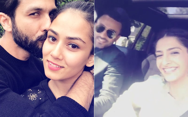 LOVE IS IN THE AIR: Shahid Kapoor Kisses Mira Rajput, Sonam Kapoor-Anand Ahuja Set Out For A Drive