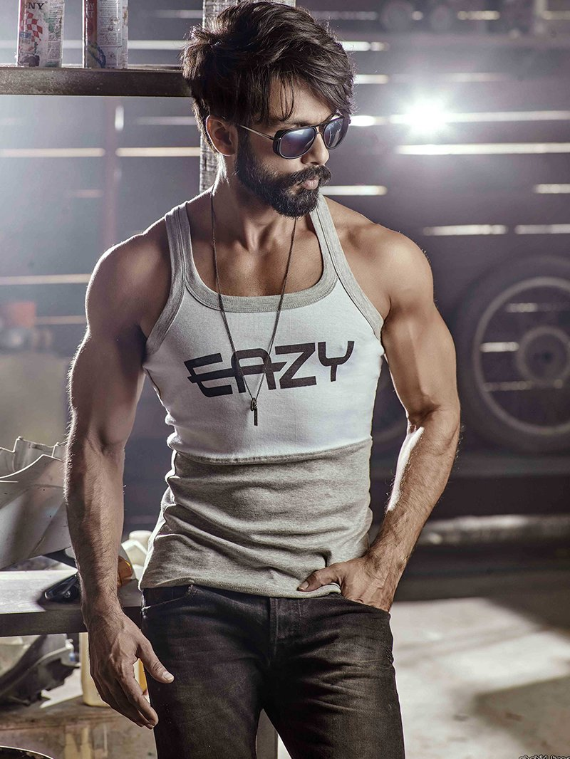 shahid kapoor poses for a photo shoot