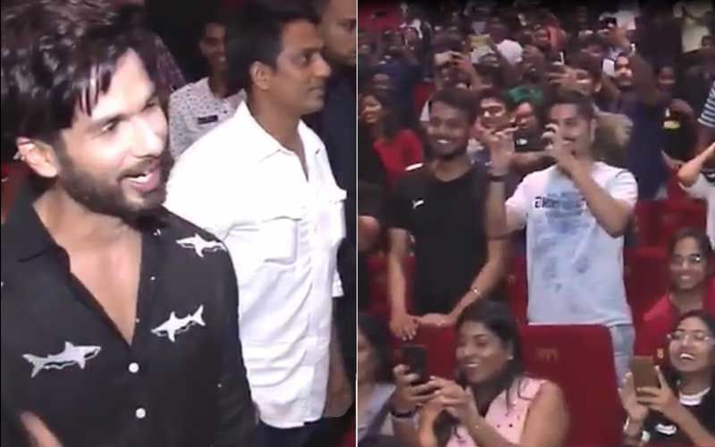 Shahid Kapoor Surprises Fans At A Theatre As They Watch Kabir Singh– Watch Video