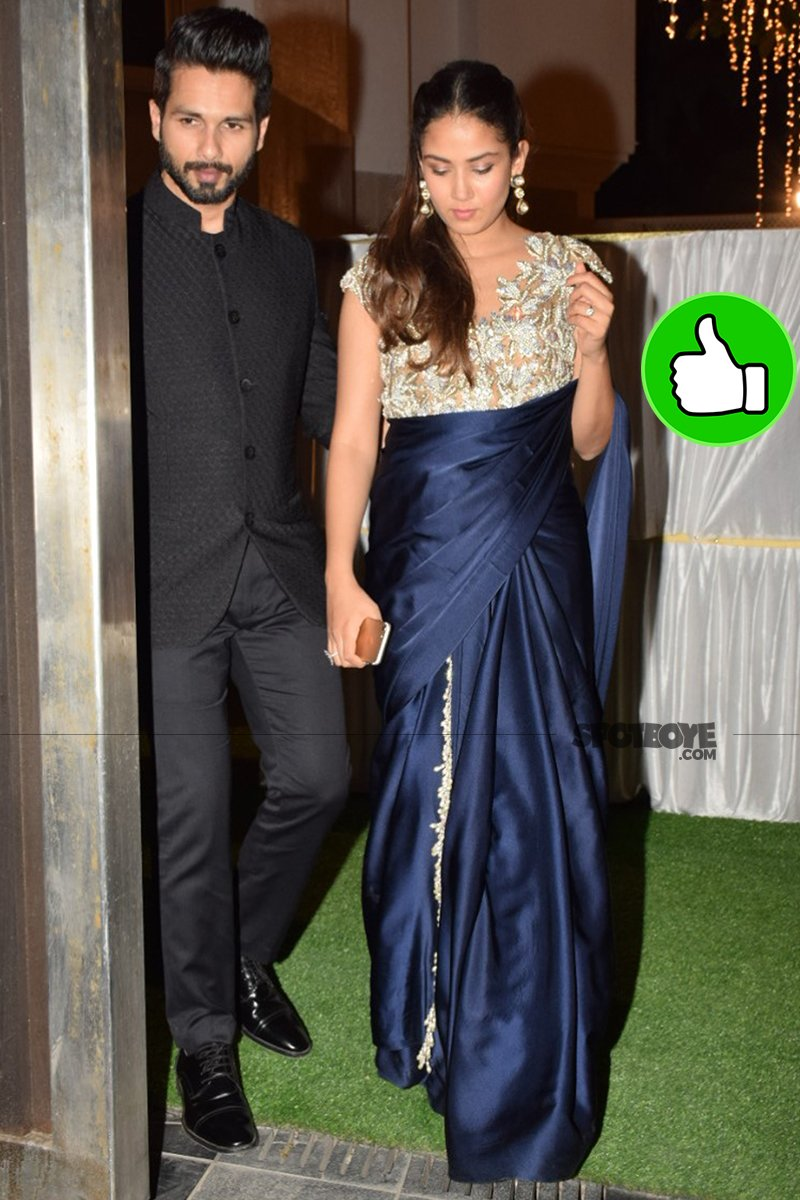 shahid kapoor with wife mira rajput snapped at an event