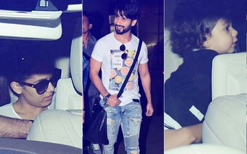 PICS: Mira Rajput & Misha Come To Pick-Up Shahid Kapoor From The Airport
