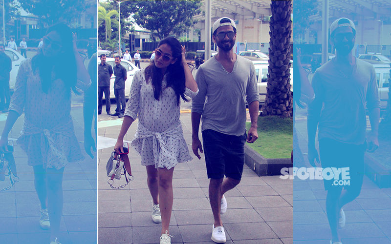 Mira Rajput Flaunts Baby Bump, Spotted About Town With Hubby Shahid