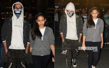 Shahid Kapoor Hospitalised Post Accident: Actor Conceals 13 Stitches Wearing A Bizarre Mask As He Returns With Mira Rajput-VIDEO