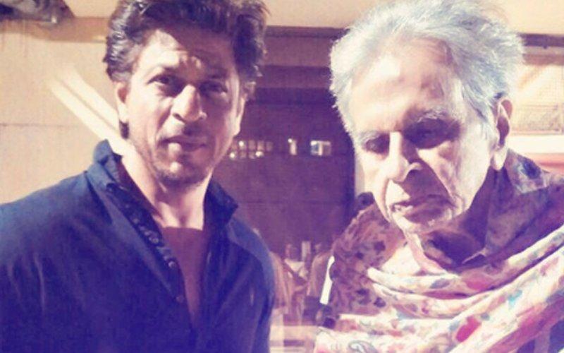 PIC: Shah Rukh Khan Drops In To Meet Dilip Kumar
