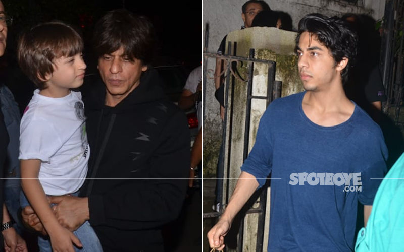 Shah Rukh Khan Aka Musafa Along With Aryan Khan Aka Simba Spotted At The Lion King Preview With Family