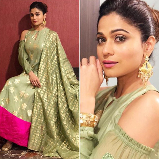 shamita shetty snapped in a traditional avatar