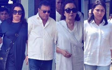 Farah Khan, Boman Irani, Asha Parekh, Priya Dutt Attend Shammi Aunty's Funeral