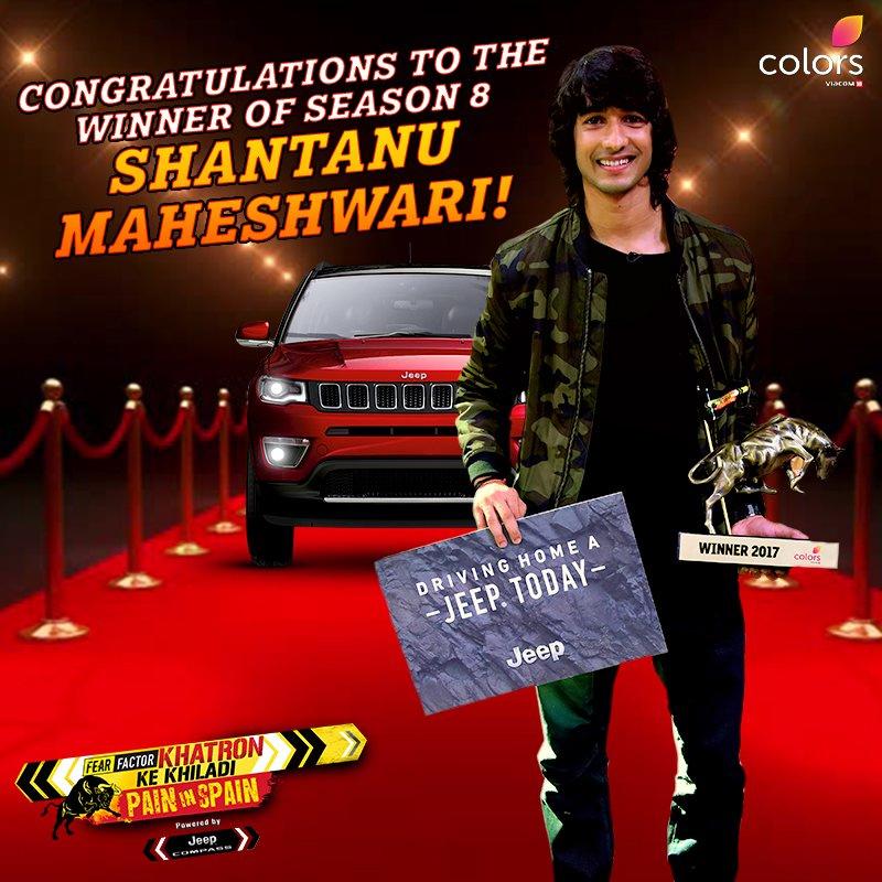 shantanu maheshwari winner of khatron ke khiladi pain in spain