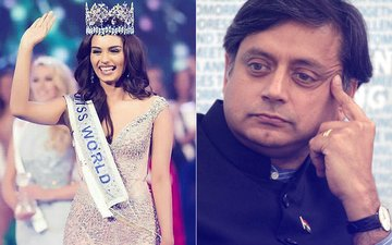 Manushi Chillar REACTS To Shashi Tharoor's Tweet; Politician APLOGISES