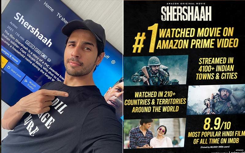 Sidharth Malhotra's Shershaah Is Listed As The Most Watched Movie On Amazon Prime Video, With IMDb Rating Of 8.9