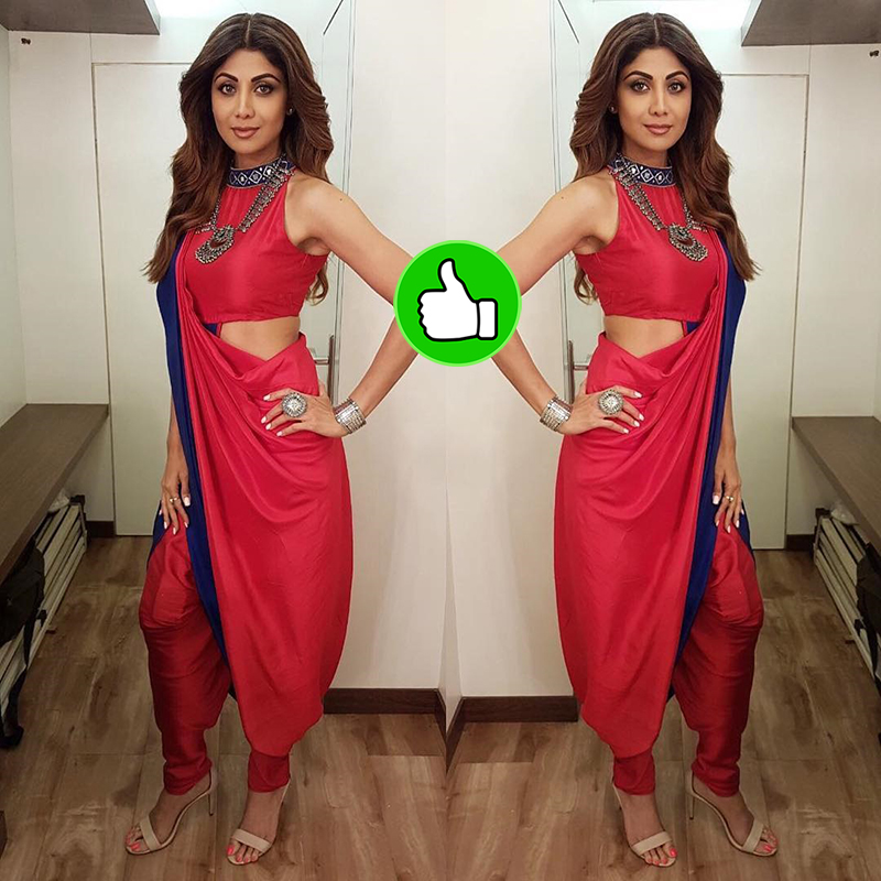 shilpa shetty in a red attire