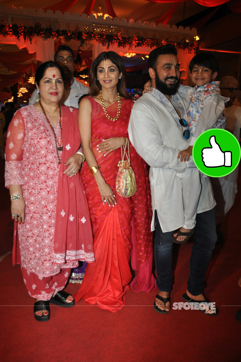 shilpa shetty with family at iskon temple juhu