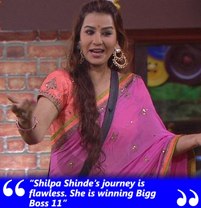 shilpa shinde is will win bigg boss 11