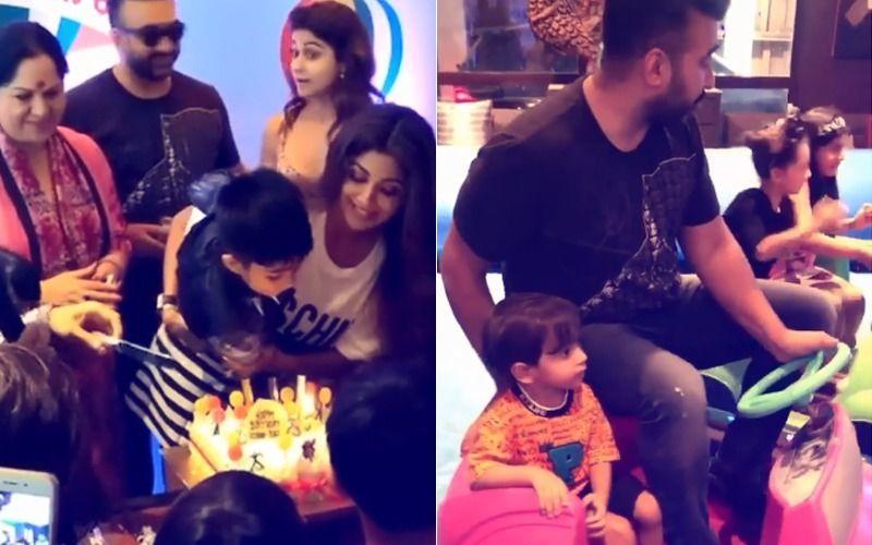 देखिए शिल्पा शेट्टी के बेटे के जन्मदिन का फंक्शन, आराध्या और आहिल भी पार्टी में