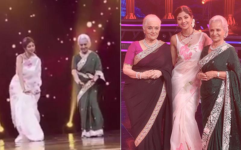 सुपर डांसर 3 के सेट पर पहुंची 81 साल की वहीदा रहमान ने शिल्पा शेट्टी के साथ किया डांस, देखिए वीडियों