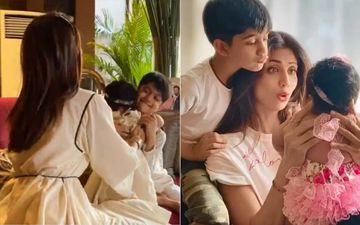Shilpa Shetty's Kids Viaan And Samisha Celebrate Their First Bhai Dooj; Actress Says 'My Little Boy's Dream For A Li'l Sister Has Come True'-VIDEO