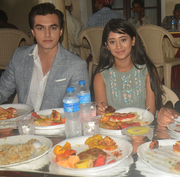shivangi joshi with mohsin khan at iftar