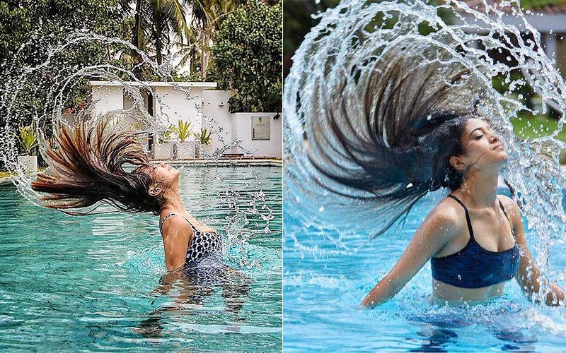 COPY CAT! Kasautii Zindagii Kay 2 Actress Pooja Banerjee Strikes A Similar Pose As Shivangi Joshi In Pool