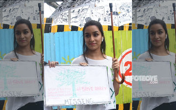 Shraddha Kapoor Bats For The Save Aarey Forest Initiative; Lends Her Support Through A Public Protest