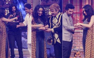 Shraddha Kapoor Ties Rakhi To Krushna Abhishek, Sudesh Lehri & Siddhanth On The Drama Company