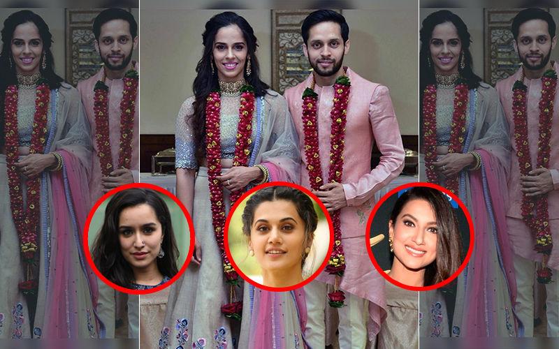 Shraddha Kapoor, Gauahar Khan, Taapsee Pannu Congratulate Saina Nehwal On Her Wedding To Parupalli Kashyap