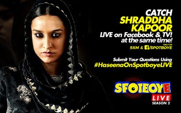 SPOTBOYE LIVE: Shraddha Kapoor Live On Facebook And 9XM!