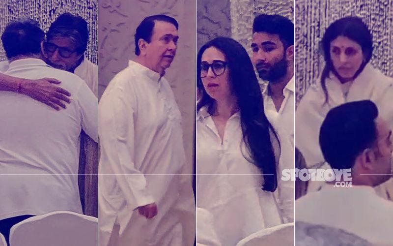 Shweta Nanda's Father-In-Law's Prayer Meet: Amitabh Bachchan, Randhir, Neetu, Karisma Kapoor Pay Last Respects