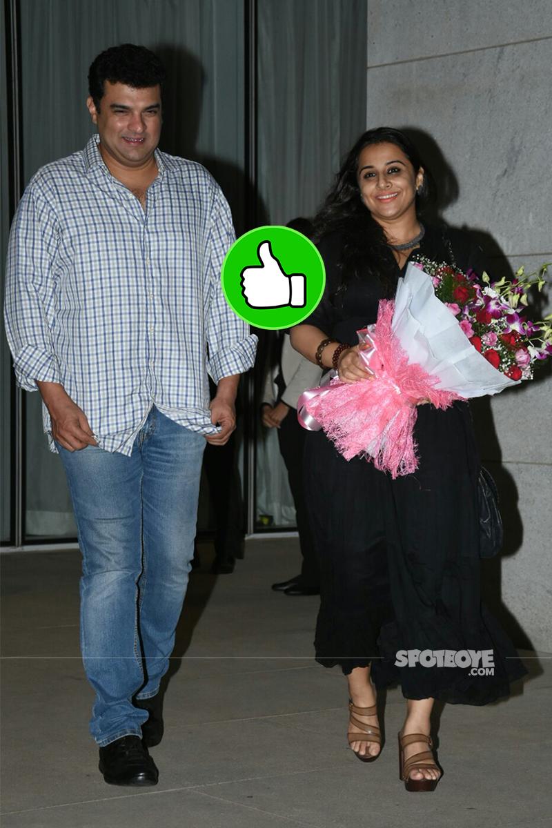 siddharth roy kapur vidya balan snapped post her birthday celebration