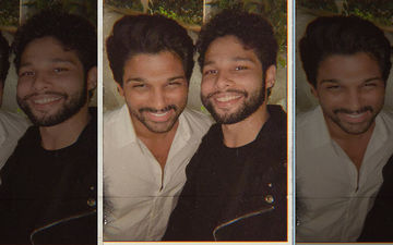 """Siddhant Chaturvedi's Fan Boy Moment: Gully Boy Actor Clicks A Selfie With """"The Lover And Fighter"""" Allu Arjun"""