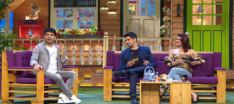 sidharth and jacqueline promote a gentleman on the kapil sharma show