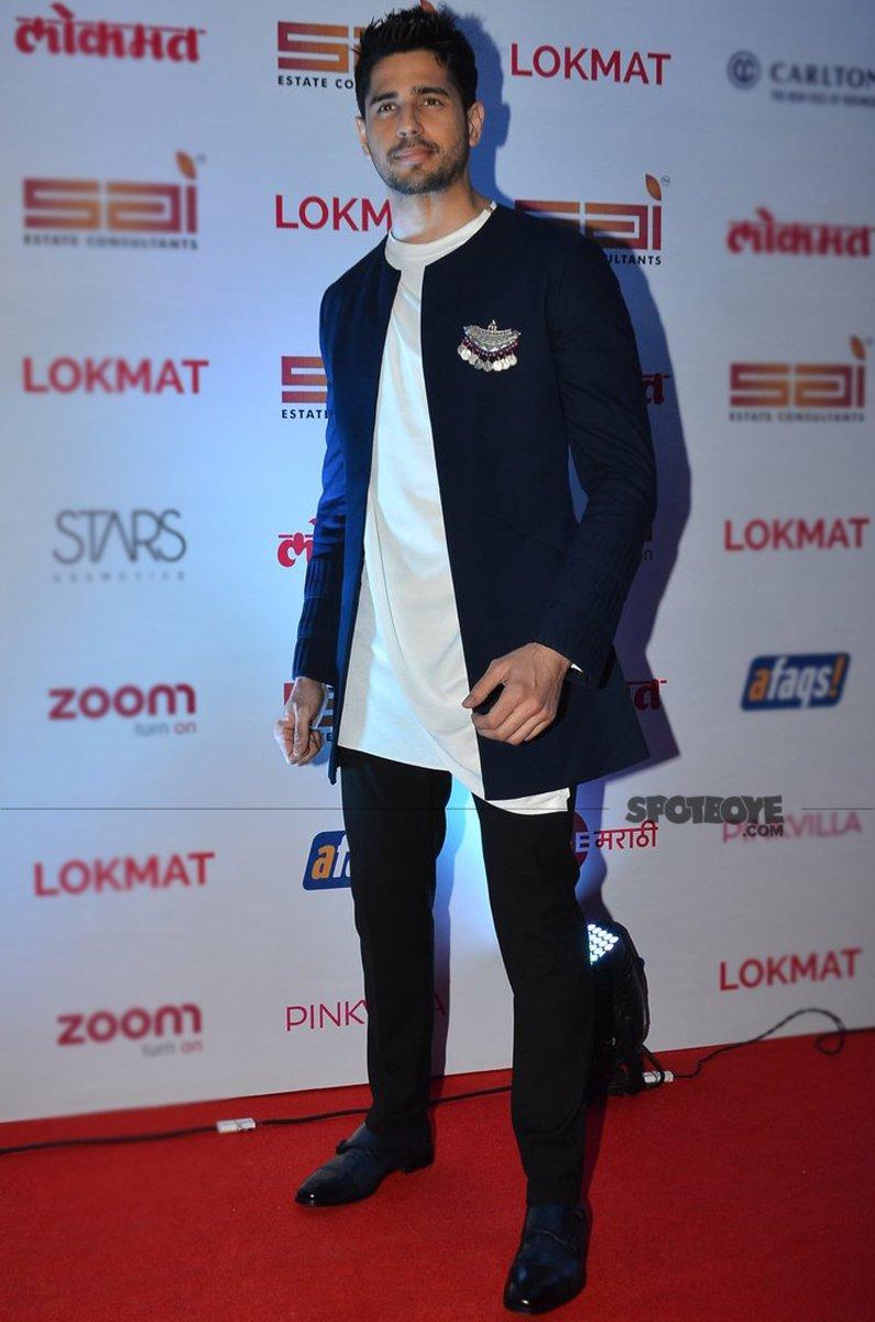 sidharth malhotra at lokmat awards