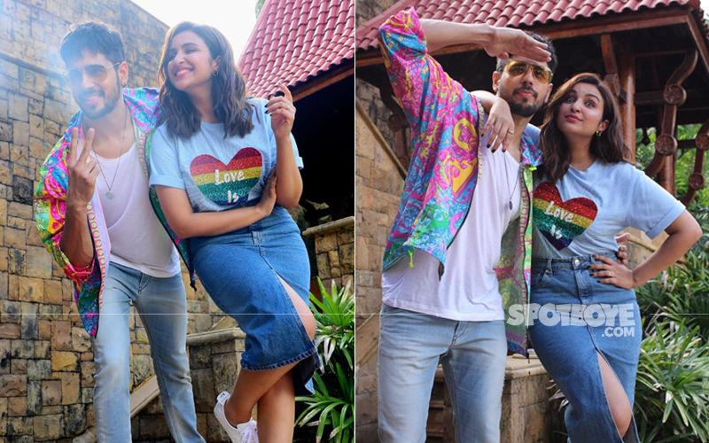Sidharth Malhotra-Parineeti Chopra Opt For Bright And Colourful Outfits As They Promote Jabariya Jodi