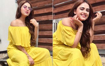 Simi Chahal Looks Stunning In A Yellow Off-Shoulder Maxi Dress-SEE PIC