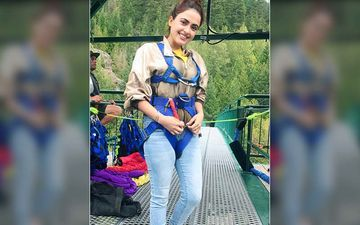 Simi Chahal's Bungee Jumping Videos Will Give You An Instant Adrenaline Rush- WATCH
