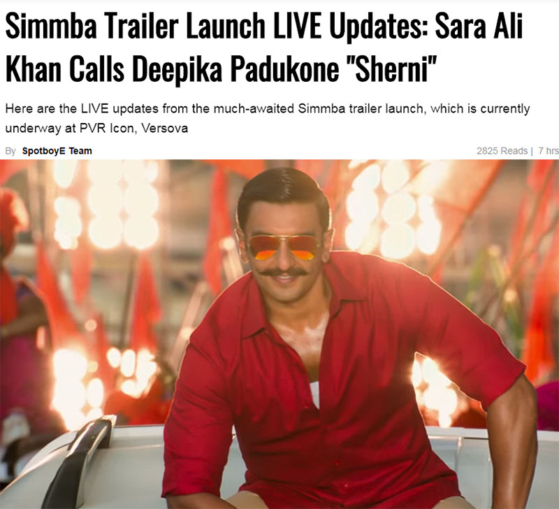 simmba trailer launch