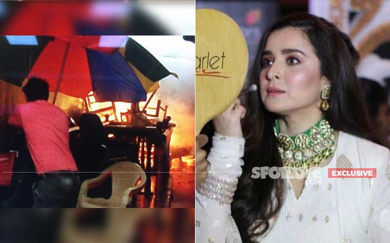 Bahu Begum Set Catches Fire; Simone Singh Was Shooting Inside- EXCLUSIVE PICS AND VIDEOS