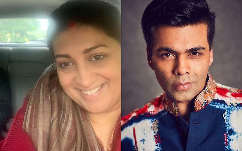 Smriti Irani Shares A TB Photo Of Karan Johar Smiling Instead Of Pouting; THIS Rare Photo Needs To Be Preserved