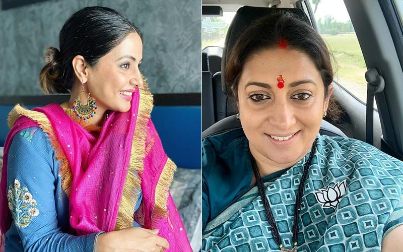 Hina Khan Cannot Contain Her Laughter As Smriti Irani Shares Viral Video Turning Kokilaben's Dialogues Into A Rap Song- WATCH