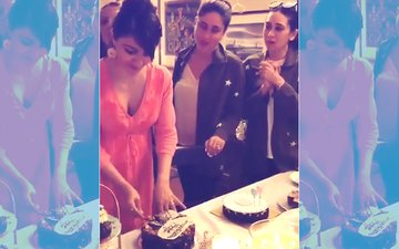 Watch Video: Kareena & Karisma Give A Fitting Baby Shower To Soha With Taimur In Attendance!