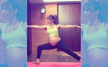Pregnant Soha Ali Khan Looks Like A Warrior In This Yoga Pose