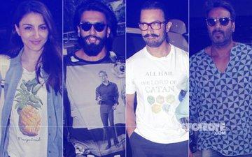 SPOTTED: Pregnant Soha Ali Khan, Ranveer Singh, Aamir Khan & Ajay Devgn At The Airport