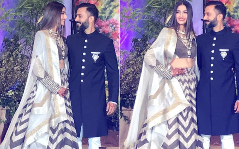 Meet Mr & Mrs Ahuja: Newlyweds Sonam & Anand Arrive At Their Reception