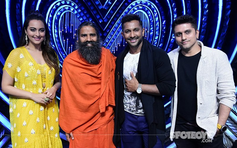 Sonakshi Sinha Takes Yoga Classes From Baba Ramdev On-The-Sets Of Nach Baliye 8