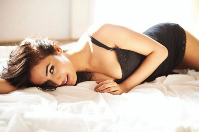 sonal chauhan poses for a photo shoot