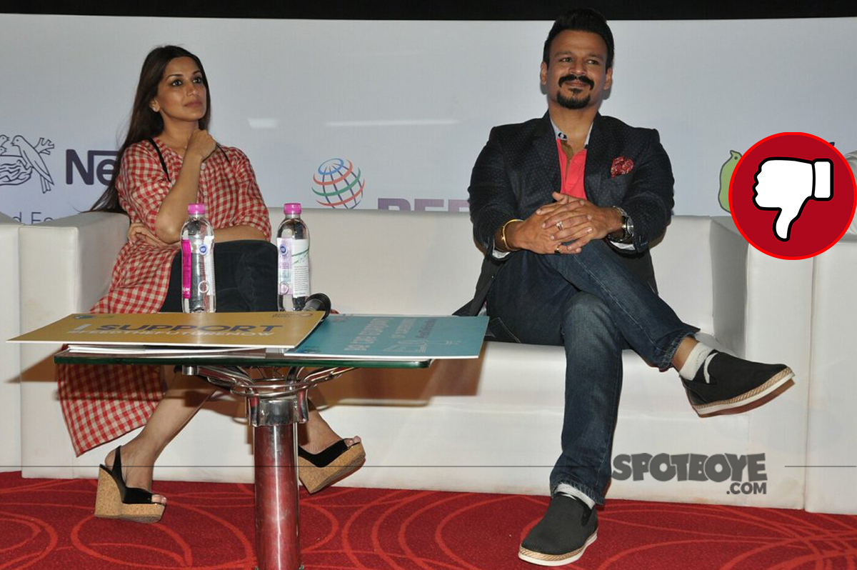 sonali bendre and vivek oberoi at an event
