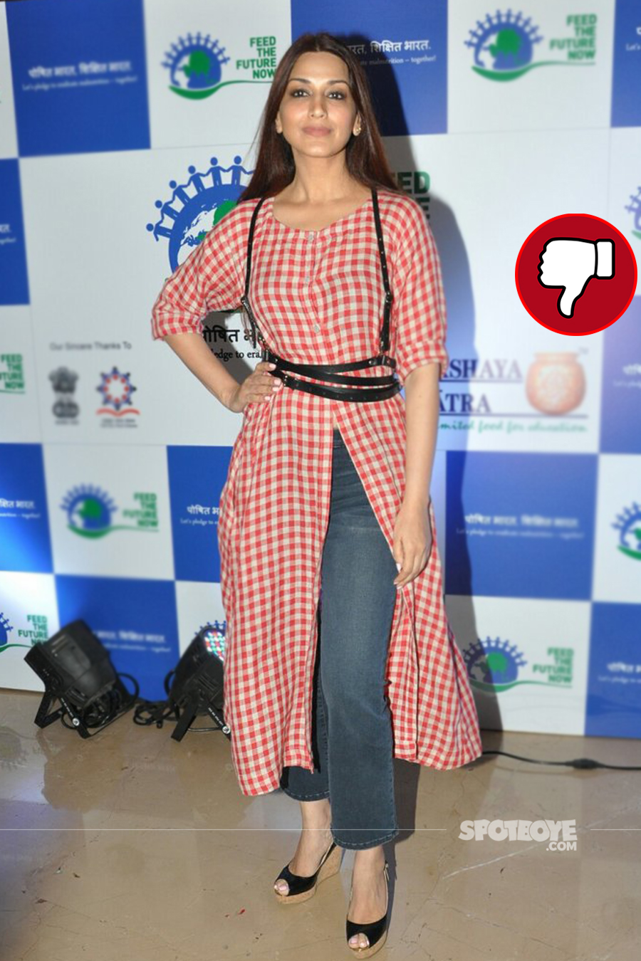 sonali bendre at an event