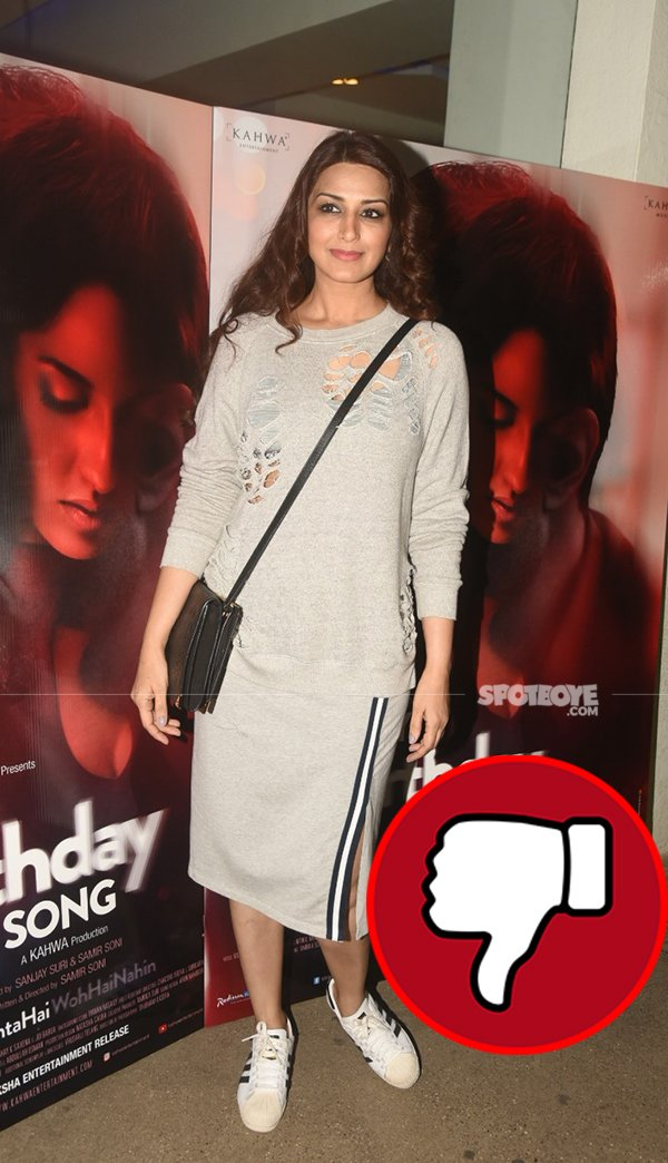 sonali bendres at screening of movie my birthday song