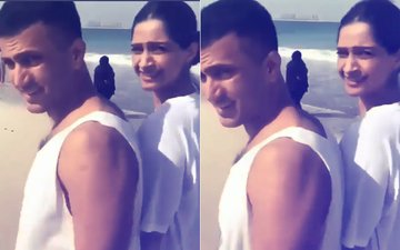 VIDEO: Sonam Kapoor & Anand Ahuja Take A ROMANTIC Walk On A Beach In Dubai