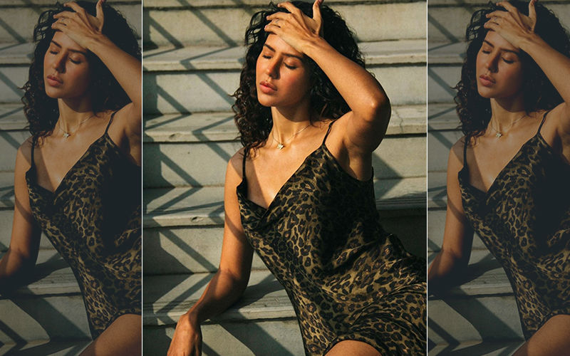 Sonam Bajwa is looking So Sexy in Tiger Print Dress, You Just Cant Keep Your Eyes Off Her